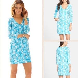 Lilly Pulitzer Juliet Fitted V neck Tshirt Dress